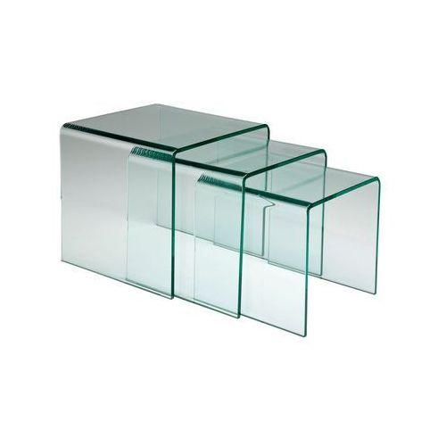 Stolik Clear Club (3/Set) Szkło 12mm - 76718, Kare Design z sfmeble.pl