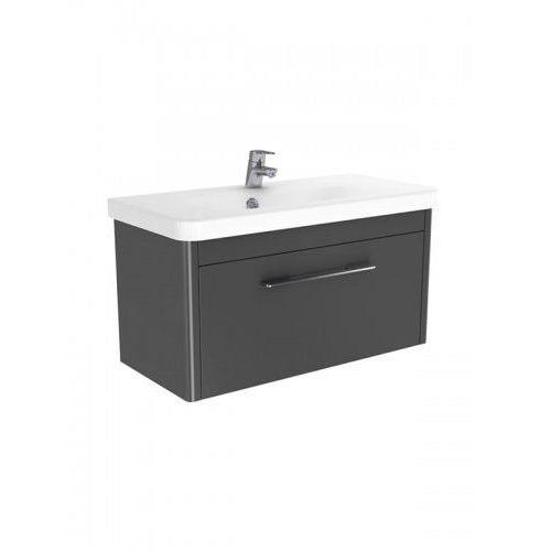 vito szafka wisząca grafit połysk + umywalka 80 cm ml-8180/033300-u marki New trendy