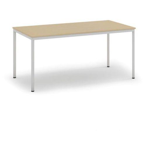 B2b partner Stół do jadalni i stołówki, jasnoszara konstrukcja, 1600x800 mm, brzoza