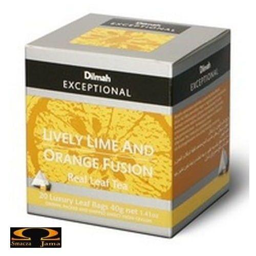 Herbata Dilmah Lively Lime & Orange Fusion - limonkowo pomarańczowa 20 torebek, 8881