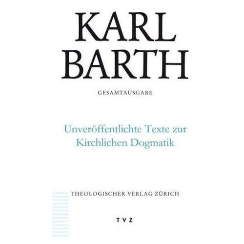 Unveröffentlichte Texte zur Kirchlichen Dogmatik, m. CD-ROM Stoevesandt, Hinrich (9783290176693)