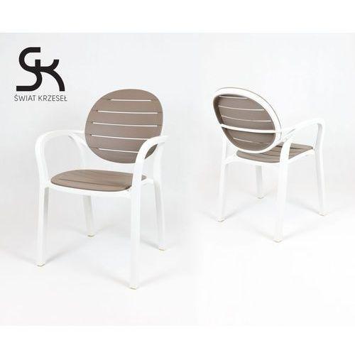 Świat krzeseł Kr044 białe + beżowe krzesło polipropylenowe, kategoria: zestawy mebli kuchennych