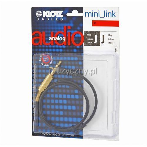 Klotz as mj 0060 kabel trs / mini trs 0,6m