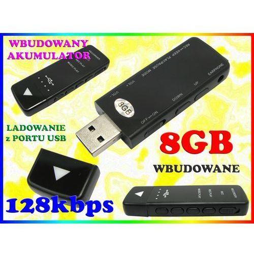 MINIATUROWY DYKTAFON CYFROWY PENDRIVE 128kbps POJEMNOŚĆ 8GB SŁUCHAWKI W ZESTAWIE, Sklep Easy-WiFi