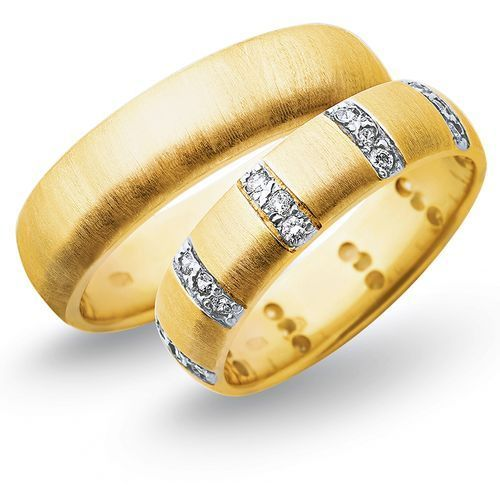Obrączki z żółtego i białego złota 6mm - O2K/072 - produkt dostępny w Świat Złota