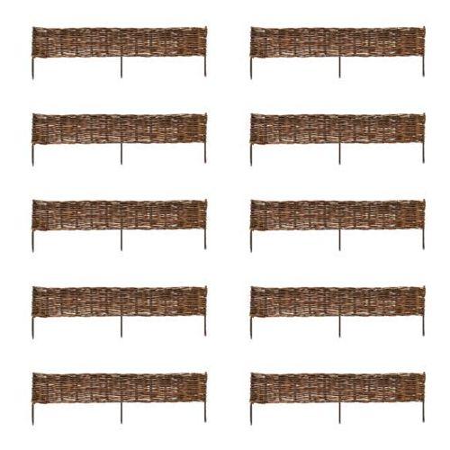 Płot wiklinowy 120 x 35 cm (10 elementów), vidaXL z VidaXL