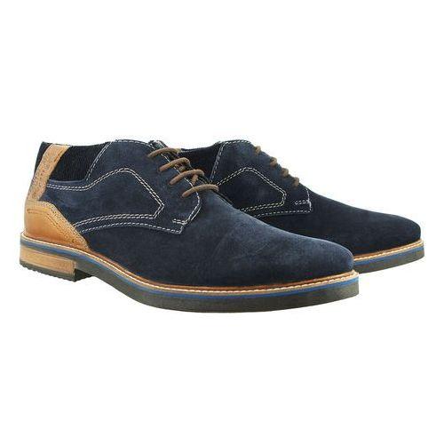 BUGATTI 311-60931-1412 4163 dark blue/cognac, trzewiki męskie, kolor niebieski