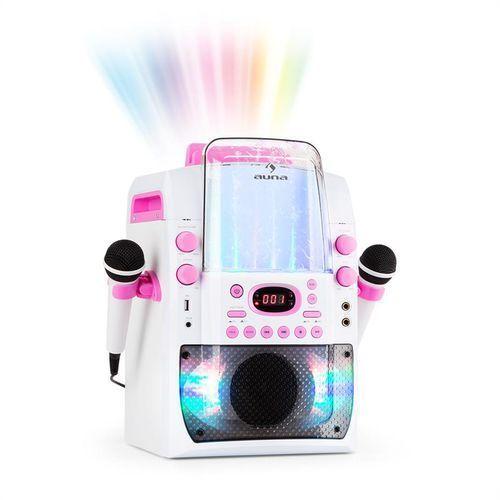 kara liquida bt zestaw karaoke show świetlne fontanna bluetooth biały/różow marki Auna