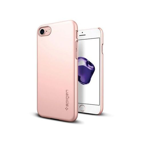 Spigen Etui thin fit iphone 7 / 8 rose gold - różowy (8809565300998)