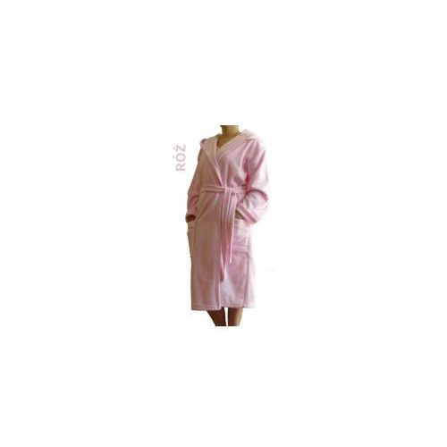 Szlafrok Termofrota - Różowy z kapturem, 65