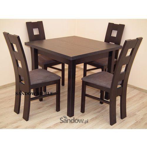 Mały kwadratowy stolik plus 4 krzeseł. Okazja z kategorii zestawy mebli kuchennych