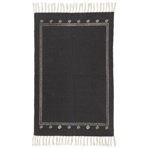 Dywanik czarny z białym wzorem ze sklepu Vanille Mynte