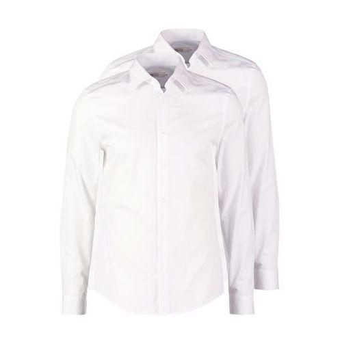 Pier One 2 PACK Koszula biznesowa white