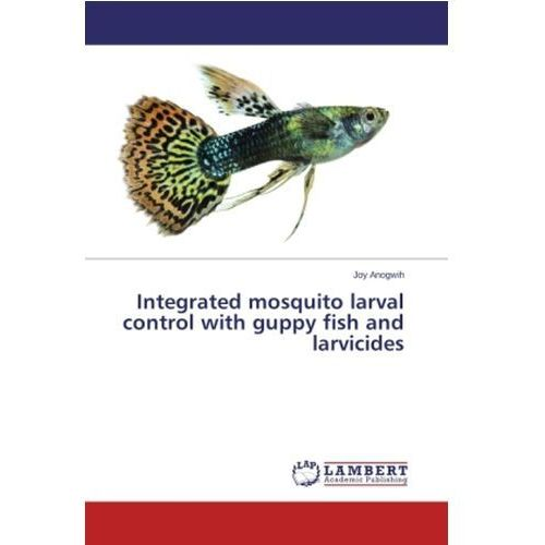 Integrated mosquito larval control with guppy fish and larvicides