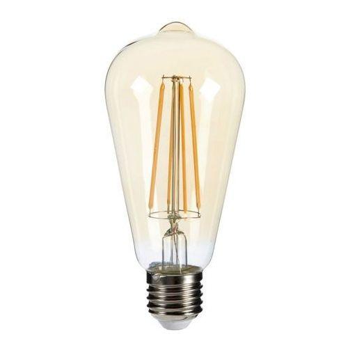 Żarówka LED Diall Filament Gold ST64 E27 5 5 W 470 lm przezroczysta barwa ciepła