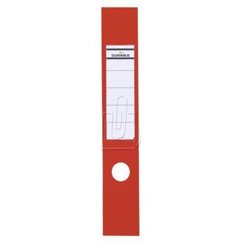 Etykiety na segregator Durable 60x390 czerwony 10 szt. 8090-03 (4005546846019)