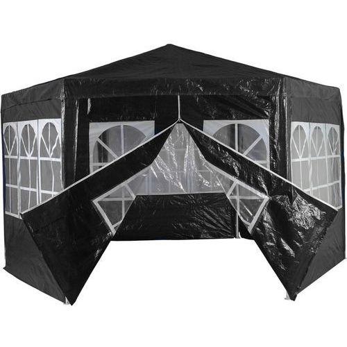 Mks Czarny pawilon namiot ogrodowy handlowy 6 ścianek - czarny (30030177)