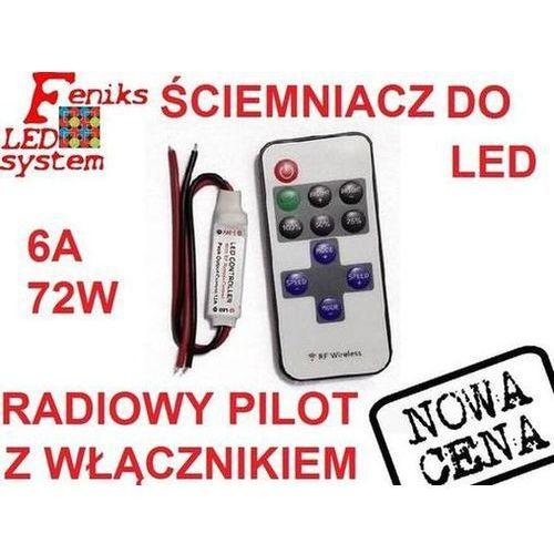 Ściemniacz do taśma led radiowy mini do profil led marki Feniks