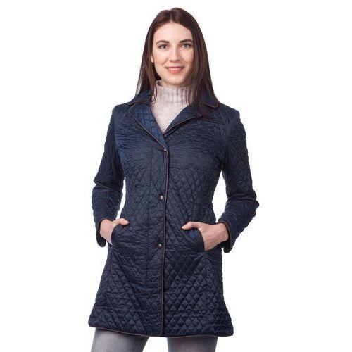 Geox płaszcz damski M ciemnoniebieski, kolor niebieski