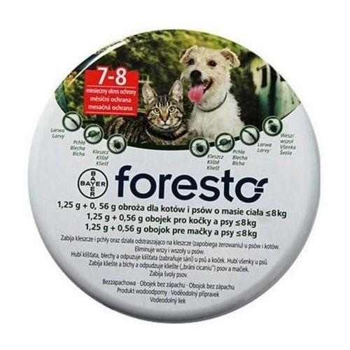 Bayer Foresto Obroża 1,25g + 0,56g dla kotów i małych psów <8kg (pielęgnacja psów)