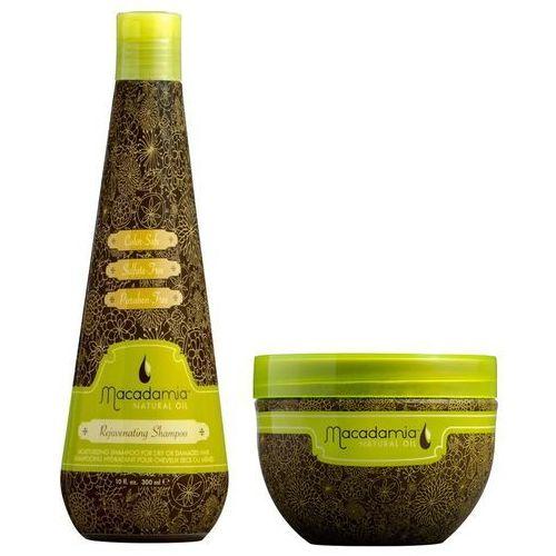 zestaw odżywczy   szampon rejuvenating 300ml + rewitalizująca maska 236ml marki Macadamia