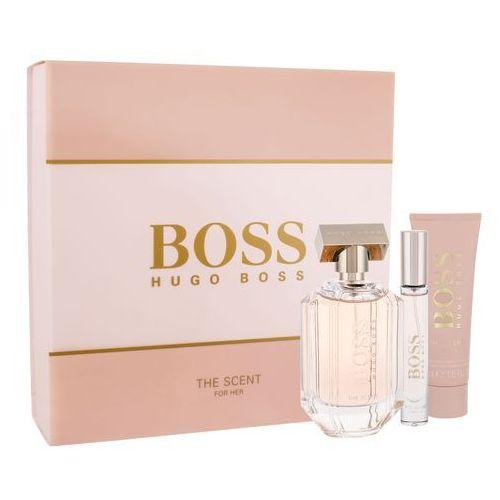 HUGO BOSS Boss The Scent For Her zestaw Edp 100 ml + Balsam do ciała 50 ml + Edp 7,4 ml dla kobiet