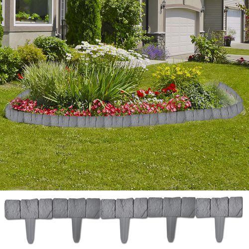 ogrodzenie trawnika, 41 elementów, 10 m marki Vidaxl