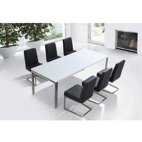 Beliani Zestaw mebli stal szlachetna – stół 220 krzesła do wyboru - arctic ii, kategoria: zestawy mebli kuchennych
