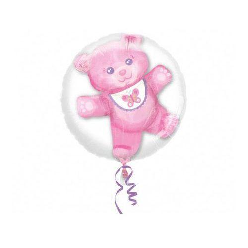 Balon foliowy z balonem misiem w środku - 60 cm marki Amscan