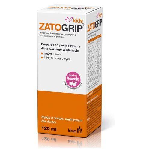 Zatogrip kids syrop z witaminą c 120ml marki Lek-am