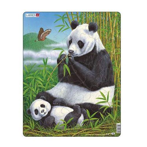 Neuveden Puzzle maxi - panda s mládětem/33 dílků