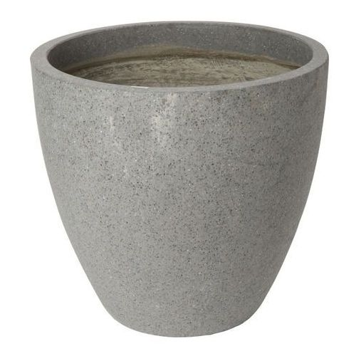 Donica efekt cementu okrągła 50 cm antracyt marki Verve