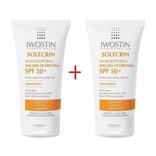 Iwostin solecrin spf50+ emulsja ochronna 100ml x 2 opakowania (duopack)