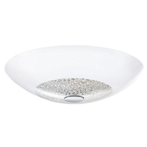 Plafon LAMPA sufitowa ELLERA 92712 Eglo szklana OPRAWA z kryształkami IP20 okrągła biała (9002759927127)