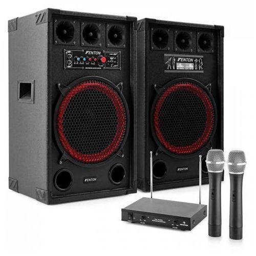 """Electronic-Star Zestaw karaoke """"STAR-Kreuzberg"""" kolumny nagłośnieniowe 800 W   2-kanałowy bezprzewodowy zestaw mikrofonowy VHF (4260275625391)"""