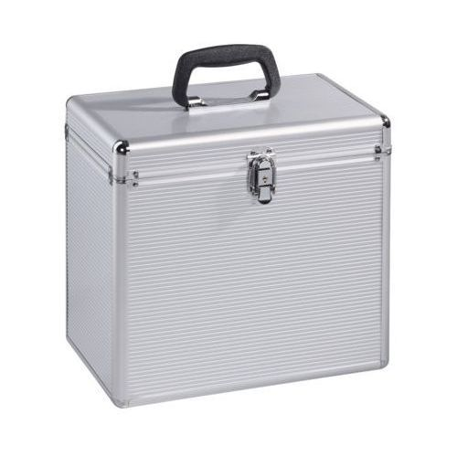 Kufer na 50 płyt winylowych srebrny marki Hama
