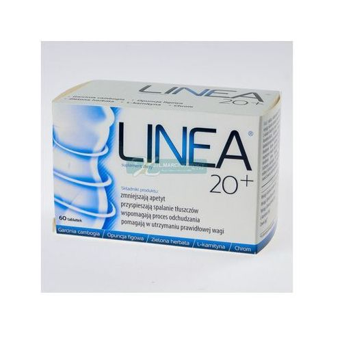 Linea 20+, tabl., 60 szt - tabletki Tabletkina odchudzanie