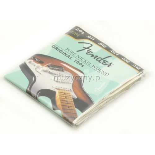 150l pure nickel struny do gitary elektrycznej 9-42 marki Fender