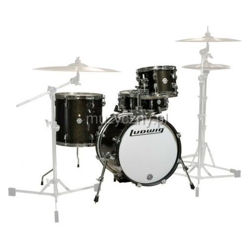 Ludwig breakbeats shell pack lc179x016 (black gold sparkle) zestaw perkusyjny