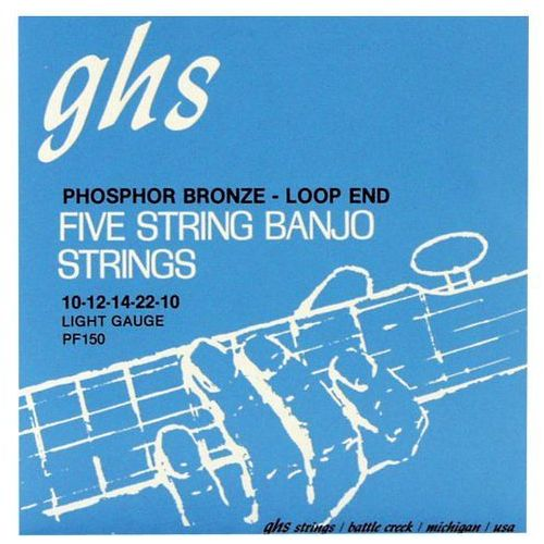 GHS Professional struny do banjo, 5-str. Loop End, Phosphor Bronze, Light,.011-.022