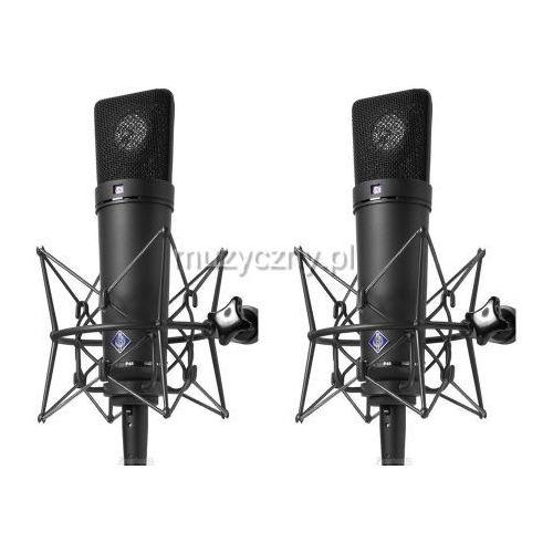 u87 ai stereo set para mikrofonów studyjnych z uchwytami ea87, kolor czarny marki Neumann