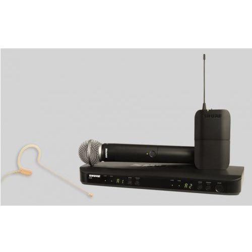 blx1288/mx153 sm wireless mikrofon bezprzewodowy podwójny, nagłowny mx153 i doręczny sm58 marki Shure