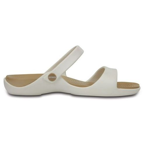 Crocs Buty klapki cleo v 204268 oyster - biały