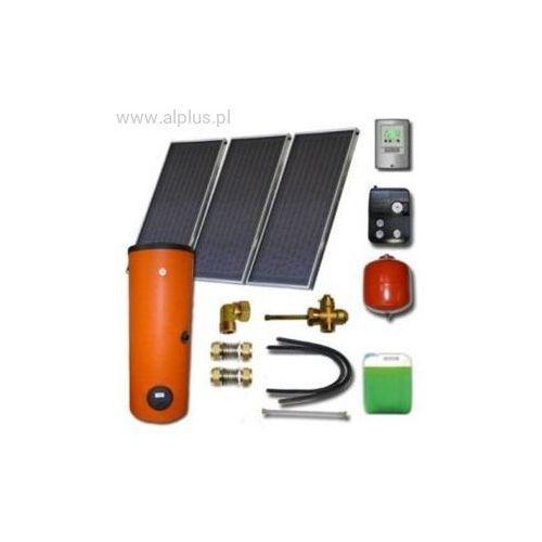 Zestaw solarny dla 3-5 osób 3x kolektory słoneczne POLSKIE meandryczne z absorberem Al/Cu+zbiornik 300l, Ensol_110_06_300_2018