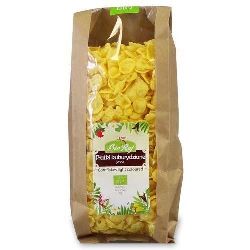Bio raj (konfekcjonowane) Płatki kukurydziane jasne bio 200 g bio raj (5907738152283)