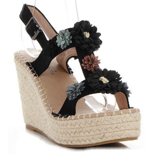 0cccb423 Modne buty damskie koturny z kwiatami marki czarne (kolory), Lady glory  109,00 zł Jesteś fanką żeńskiego stylu? Jeśli tak, to te buty kobiece są  wytwarzane ...