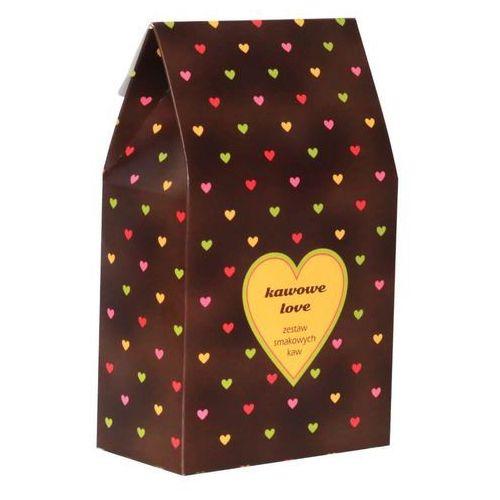 Kawowe love – prezent upominek dla zakochanych z kawą aromatyzowana smakową 10*10g