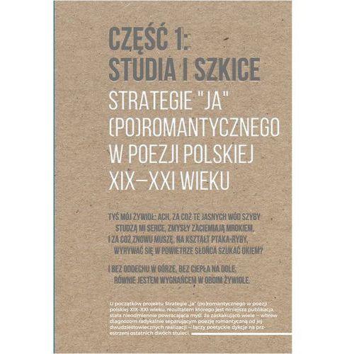 """Strategie """"ja"""" (po)romantycznego w poezji polskiej XIX-XXI wieku Część 1: Studia i szkice. Część 2: Rozmowy (2017)"""
