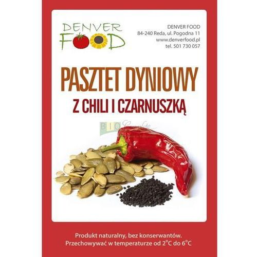 Denver food Wegański pasztet dyniowy z chilli i czarnuszką bezglutenowy opakowanie około 210 g (5904730450010)