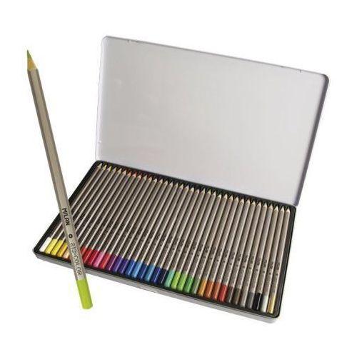 Kredki Milan ołówkowe sześciokątne 36 kolorów w metalowym opakowaniu (8411574017776)